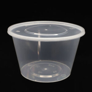 ROUND PLASTIC CONTAINERS 450ML
