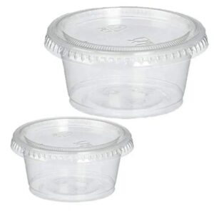 2oz HEAVY DUTY PLASTIC CONTAINERS + LIDS
