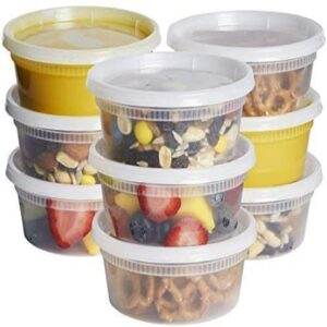 8oz HEAVY DUTY PLASTIC CONTAINERS + LIDS