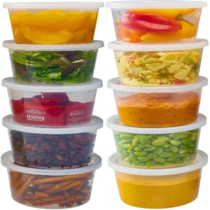 16oz  HEAVY DUTY  CONTAINERS + LIDS
