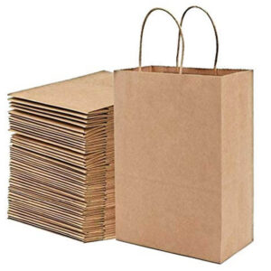 10 X 10 BROWN PAPER CARRIER BAGS
