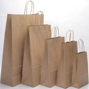 7 X 7 BROWN PAPER CARRIER BAGS