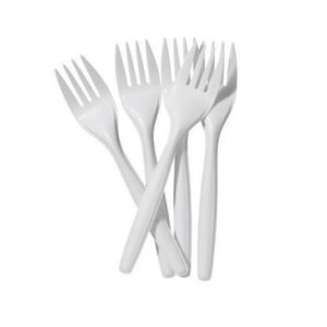 (10 x 100) WHITE PLASTIC DISPOSABLE FORKS