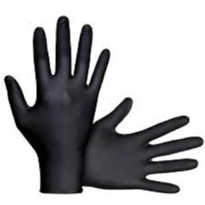 (12 x 1) HEAVY DUTY BLACK MEDIUM GLOVES