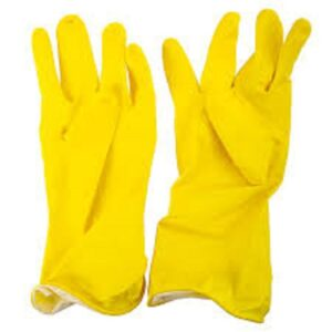 (12 x 12) HOUSEHOLD YELLOW RUBBER GLOVES