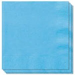 (20  X 100) 33cm 2 PLY LIGHT BLUE NAPKINS