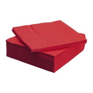 (20 X 100) 33cm 2 PLY RED NAPKINS
