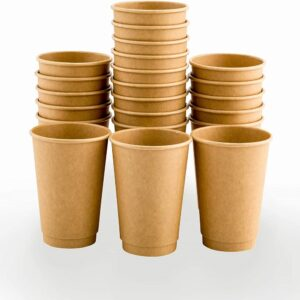 (20 X 25) 12oz DOUBLE WALL BROWN CUPS