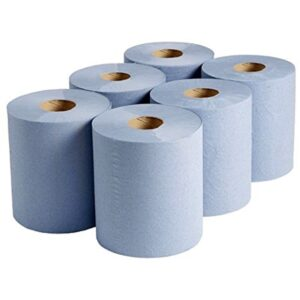 (6 x 1) BLUE CENTREFEED ROLL ECONOMY